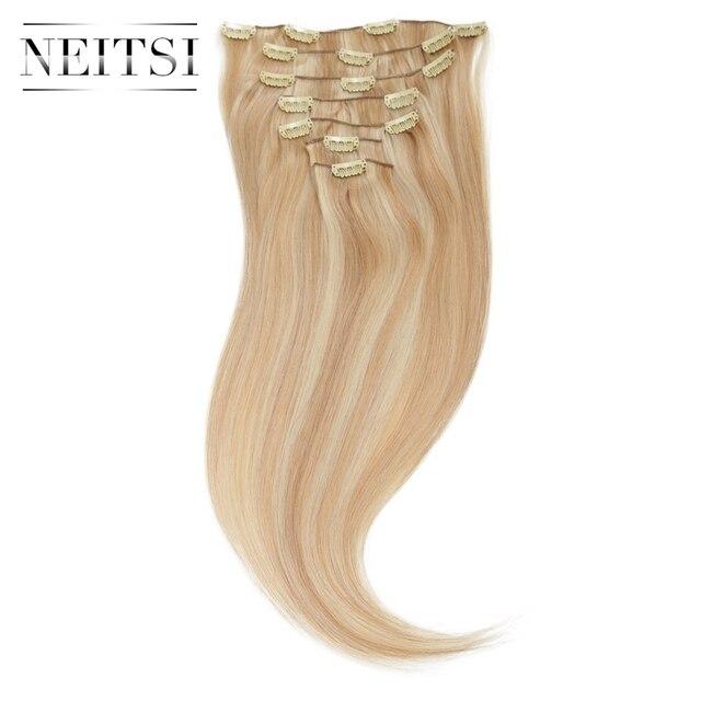 Neitsi 100 natural brazilian virgin remy hair clip in human hair neitsi 100 natural brazilian virgin remy hair clip in human hair extensions 20100g pmusecretfo Choice Image