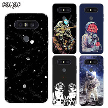 Painted Pattern Soft Rubber TPU Case For LG Q8 Q7 Q6 G6 G7 G5 G4 V40 V30 V20 V10 Transparent Cover Space Moon Astronaut