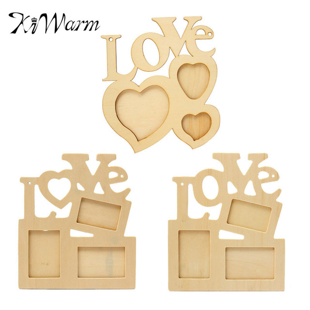 New Wooden Love Polaroid Photo Frame DIY Clip Wall Art Picture ...