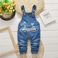2017 New Spring Kids Overall Clothes Baby Letter Cartoon Jeans Jumpsuits For Toddler/infant Bib Pants Cotton Clothes