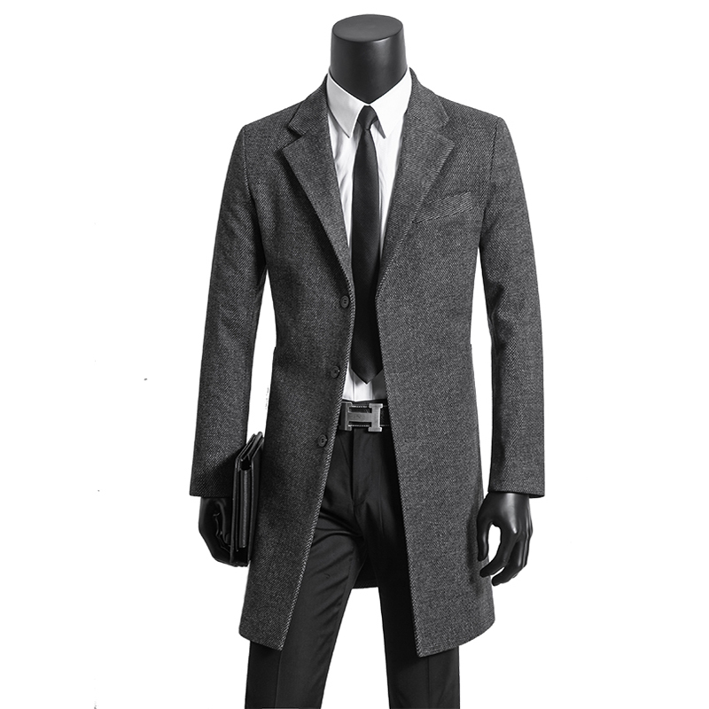 Black Arrivée Manteau vent gray Grande Concise S Nouvelle Taille Hommes Simple Breasted De Épais Plus brown Laine Mode 8xl9xl10xl Costumes Super Coupe Long Jeune La CBIwxvIqdn