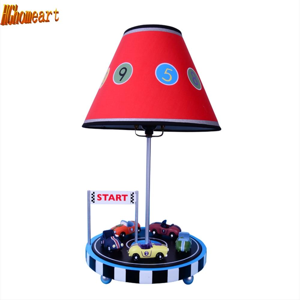 HGhomeart Lighting Bedrooms Reading Bed Light E27 110V-220V Table Led Lamp  Switch Button Resin Luminarias Bedroom Light
