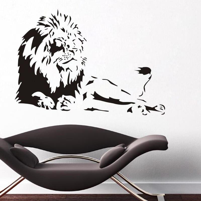 Black Domineering Big Lion Art Nástěnné Nálepky Kancelář Pohovka Pozadí Dekorace Domácí Interiér Plakáty Fototapety Art