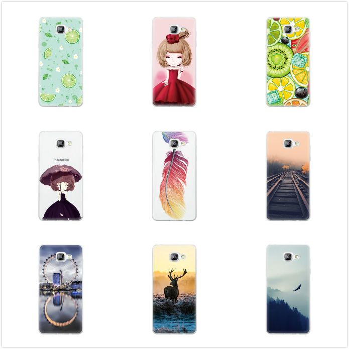 Gertong Animals Mood Railway Phone Cases for Samsung Galaxy S6 S7 Edge A3 A5 A7 J3 J5 J7 Case Soft Silicone Girls Back Coque