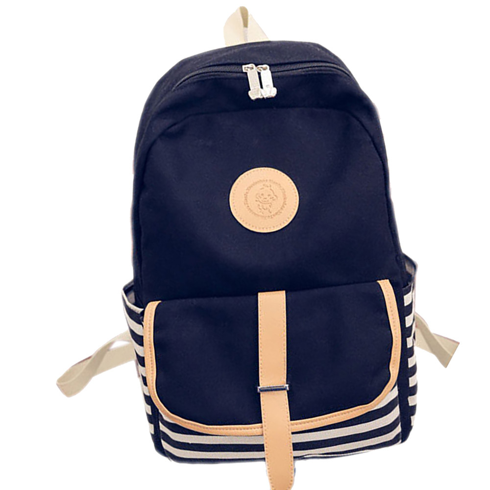 Women Fashion Canvas Travel Satchel Shoulder Bag Backpack Girls School Bags Big Backpacks for College Students Mochila Feminina