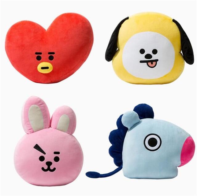 55cm KPOP BTS Plush Toys Hiphop Monster Jimin V Jungkook Jin Anime Pillow Cute Bangtan Boys