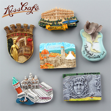 Creative Famous Landmark Florence/Turkey/Thailand 3D World Travel Souvenirs Refrigerator Magnetic Stickers Home Decortion Gifts