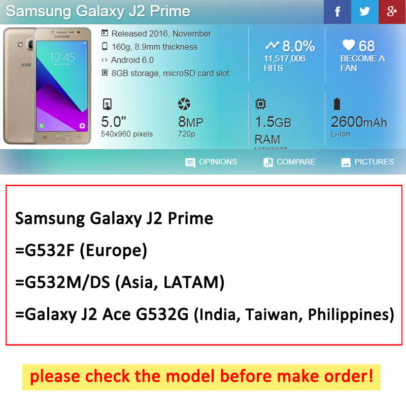 """TPU Fall Für Samsung Galaxy J2 prime G532F 5,0 """"Zurück Telefon Abdeckung Für Samsung Galaxy J 2 prime G532F g532f Silikon Fundas Schalen"""