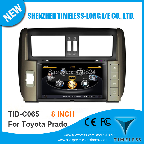 Timeless-long A8 Chipset 3G WiFi Car DVD Audio Video Player For Toyota Prado 150 2010 With GPS Navigation Radio BT Ipod Free Map