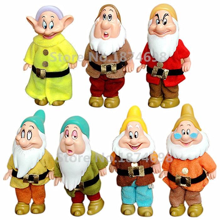 7PCS Snow White Princess The Seven Dwarfs Bashful Sneezy