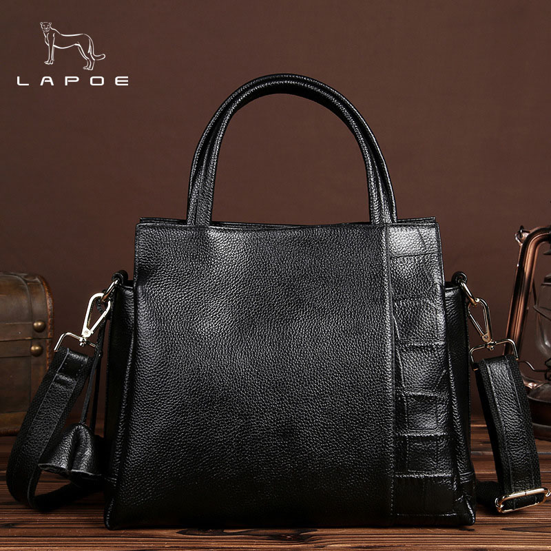 Genuine Leather Handbags Big Women Bag High Quality Casual Female Bags Trunk Tote Famous Brand Shoulder Bag Ladies Large Bolsos female handbag bag fashion women genuine leather cowhide large shoulder bag crossbody ladies famous brand big bags high quality