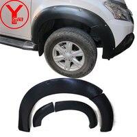 2014 2016 fender flare For ISUZU MU X SUV 2014 2015 2016 Mudguards deflectors parts accessories textured black for MUX YCSUNZ