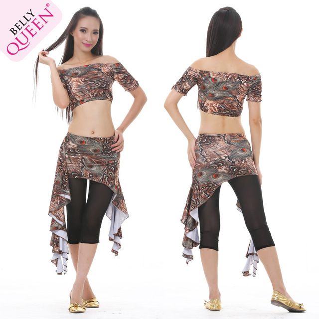 Belly dance tops peacock styles Top + skirt set 6 patterns-in Belly ...