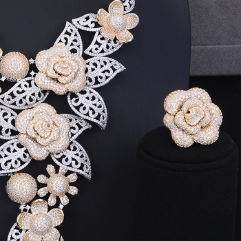 Luxury Blooming Flowers Jewelry Set  2