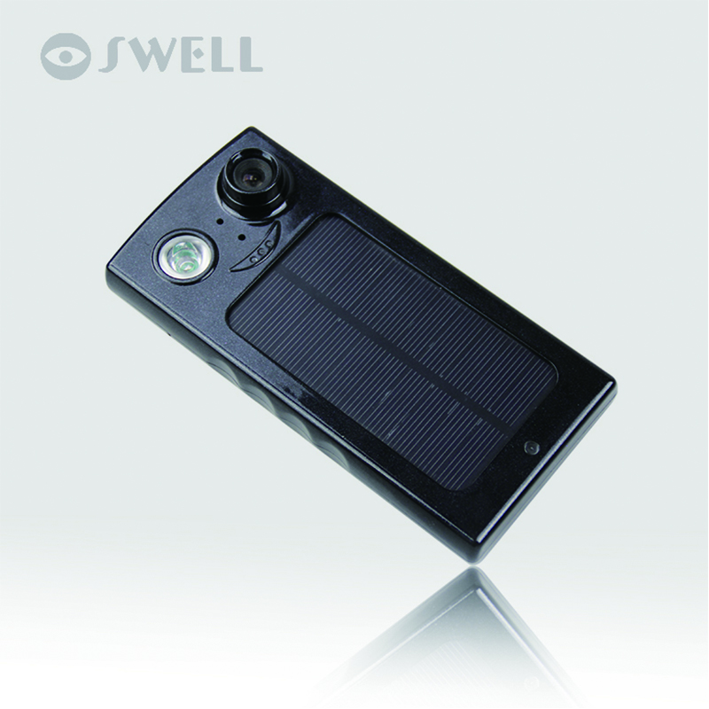 Solar camera  regard as power bank  supervise by the phone ,soalr charge  for camping,go biking,Anti-theft the optimal planning for power generation by waste
