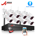ANRAN Bewakingscamera Wifi 8CH NVR Met 1080 P HD Audio Record Outdoor Nachtzicht CCTV Camera Video Surveillance systeem
