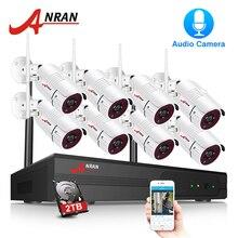 ANRAN безопасности камера системы Wi Fi 8CH NVR с 1080 P HD аудио запись открытый ночное видение видео системы наблюдений наблюдения