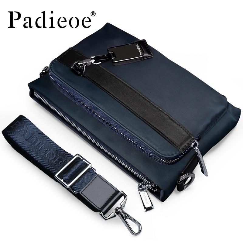Padieoe 2017 новая мода случайные сумки на ремне для мужчин высокое качество нейлон мужская сумка почтальона сумочки crossbody мешка студента