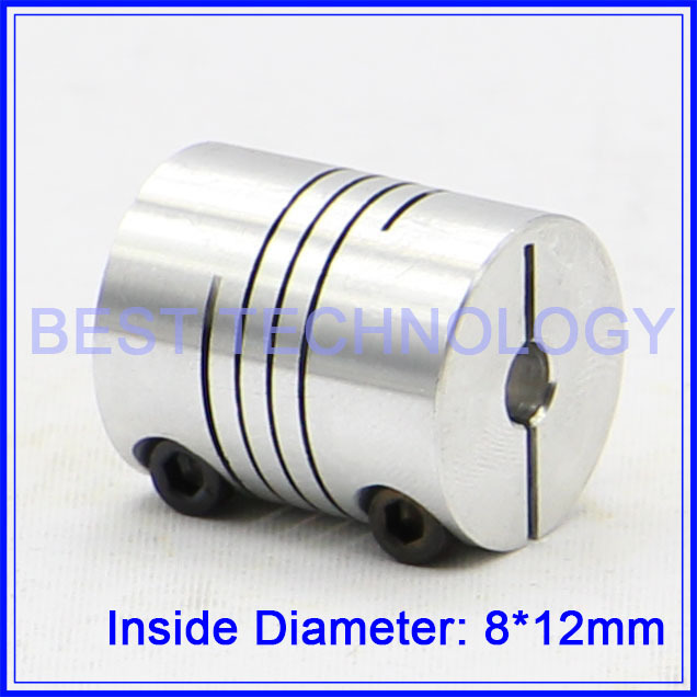 8mm to 12mm Flexible Shaft Coupling Clamp CNC Starter Shaft Coupler Connector Diameter 30mm Length 35mm image