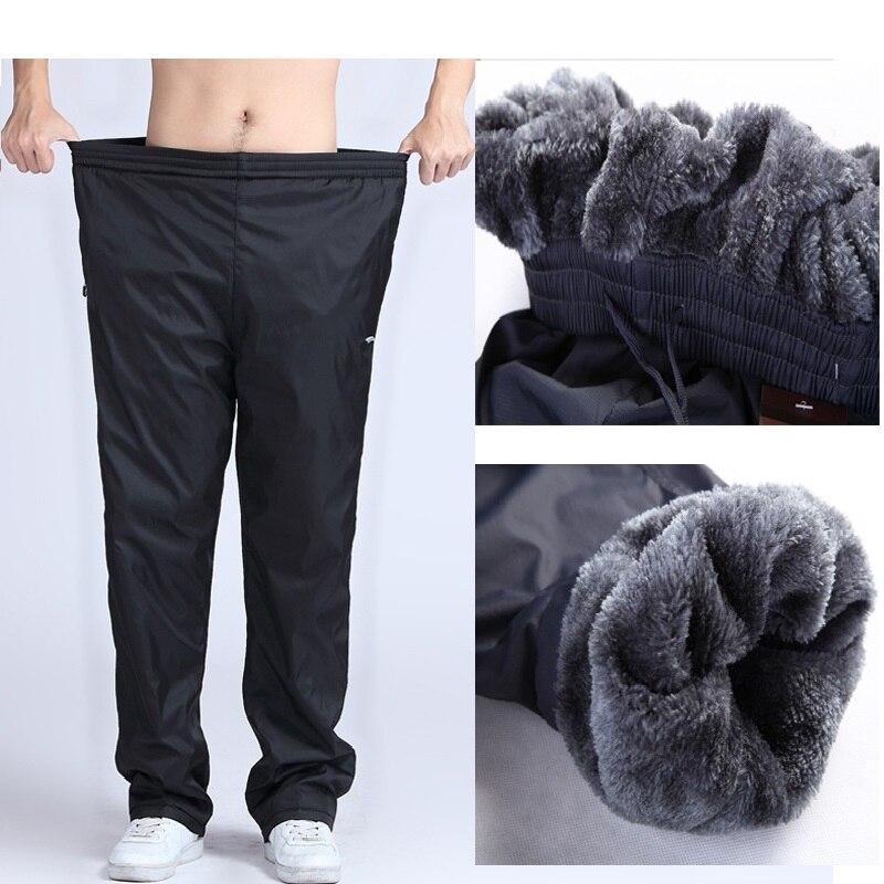 Gradnwish Plus Size 4XL 5XL 6XL Heavyweight Pants Men  Winter Mens Fleece Pants Large Size Warm Thick Pants Men Active,PA782