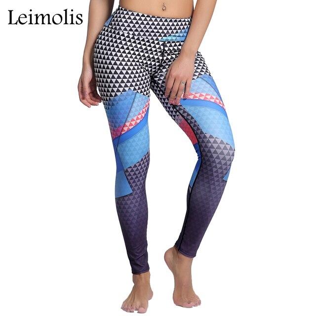 US $10 58 18% OFF|Leimolis 3D print Geometric Source program winter  Harajuku High Waist workout push up plus size fitness leggings women  pants-in