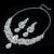 Plateado princesa sistemas de la joyería de austria crystal collar redondo cuelga el pendiente de las mujeres gota de agua diseño figura AAA joyas D021