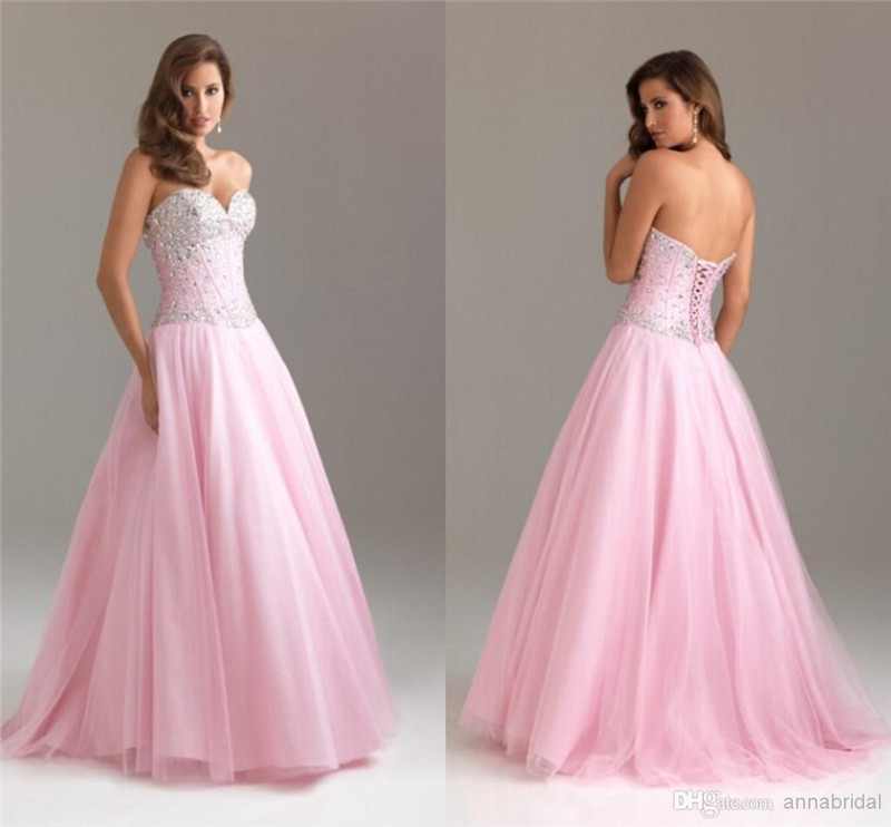 40c0cb5db4f Pink Simple Quinceanera Dresses Strapless Off The Shoulder Beaded High  Quality Ball Gowns 2016 New Designed Hot Sales For Party