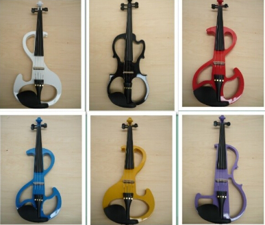 Free Shipping High quality 9 styles White violin Electric Violin 4/4 violin wood Mahogany material 7 colors violino eletrico violin bow 4 4 snake wood straight pretty inlay fr og high quality 11 dot inlay flower white horse hair