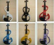 Envío de la Alta calidad 9 estilos Blanco violín Eléctrico Violín 4/4 violín de madera de Caoba material 7 colores violino eletrico