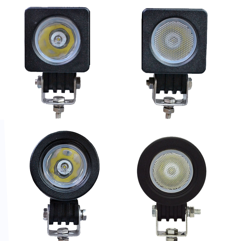2x 10w Led Work Light Square Round Driving Spot Flood Lamp 2 Inch 12V Car Auto