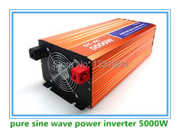 Free Shipping DC24V To AC220V CE RoHs Power Inverter 5000W Pure Sine Wave Power Inverters 5KV