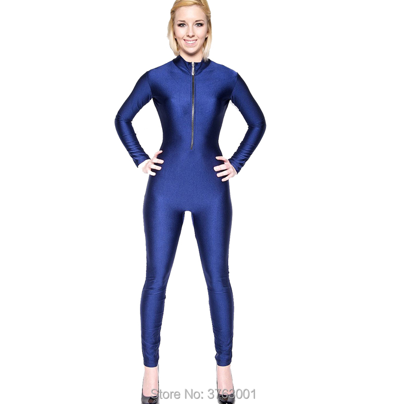 Adult Front Zipper Fitness Indoor Exercise Clothing Long Sleeve Unitard Quick Dry Professional Lady Dance Leotard Yoga Overalls