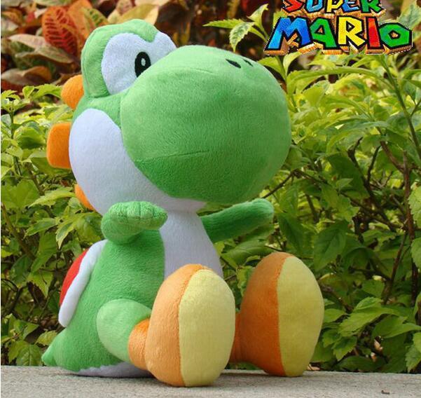 Yeni Varış Süper Mario Bros Yeşil Yoshi Dolması Peluş Oyuncaklar Etiketi Ile 30 cm Yumuşak Doldurulmuş Oyuncaklar Bebek Çocuk Perakende Için 1 adet