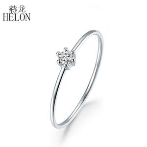 Image 1 - Sterling Silver 925 VVS/HG Moissanite Rings For Women Solitaire Engagement Wedding Trendy Fine Jewelry Elegant unique Gift Ring
