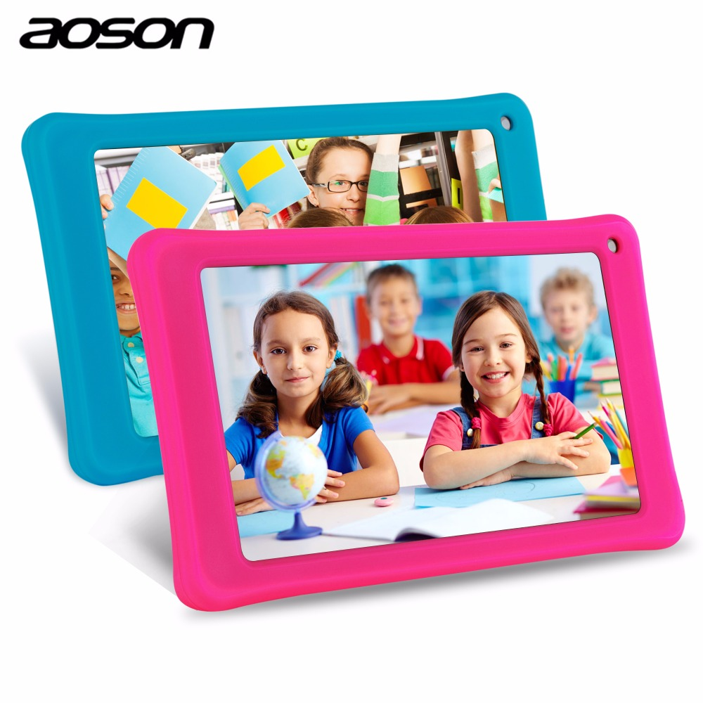 Best Gifts for Children 7 inch Android Kids Tablet PC AOSON M751S-BS BabyPad Game 512MB/8GB Dual Cameras WIFI with Silicone Case car charger for tablet pc cube u10gt u10gt2 aoson m19 more black dc 9v