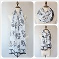 Hot animal scarf fashion black skull scarf shawl free shipping
