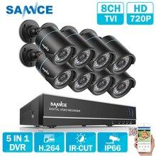 SANNCE 8CH безопасности Камера Системы 1080N 5in1 видеорегистратор переупоряд и 8 шт. HD 720P Открытый Пуля CCTV Камера s