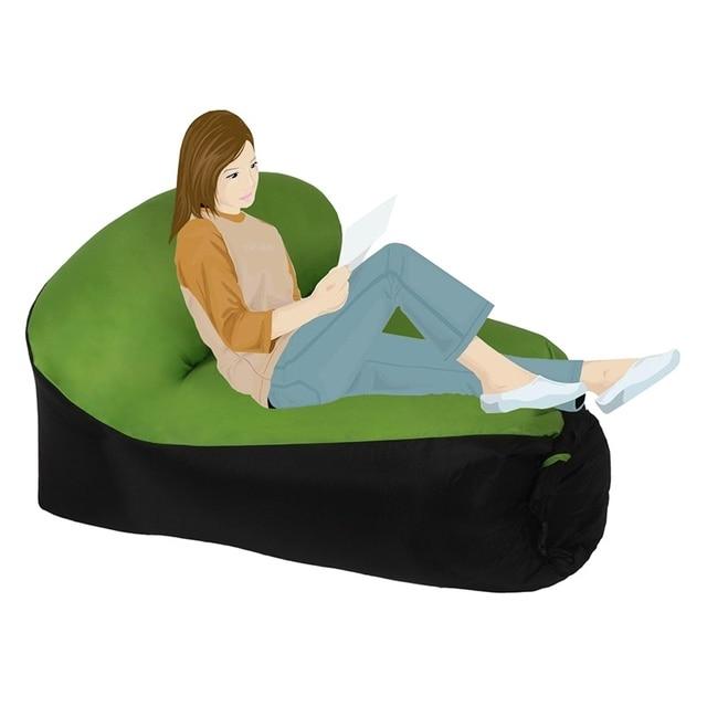 Outdoor Portable Air Chair Beach Bed Air Hammock Chair Fast Inflatable Lazy  Bag Air Sleeping Rest