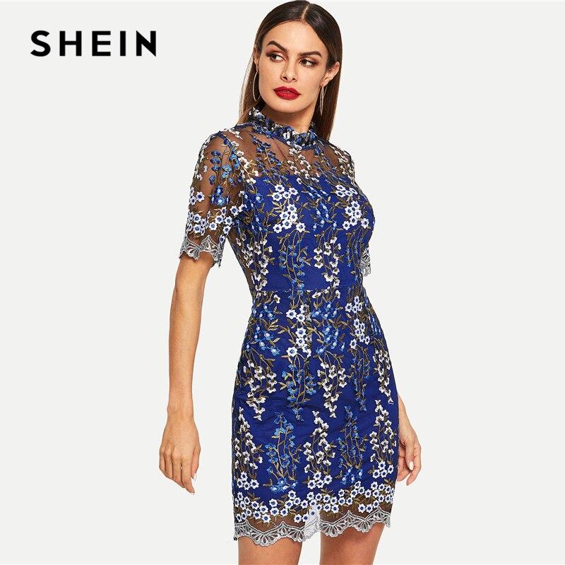 vestido United floral azul