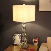Современный роскошный искажения Кристалл Настольная лампа для спальня Abajur Лампе де шевет де Chambre Lampara Luminaria де меса книги по искусству деко