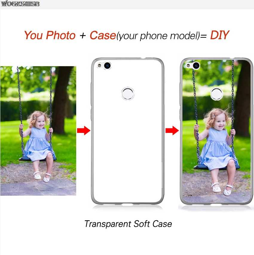 Customized Logo Name Custom Photo Case For Huawei Y3 Y5 Y6 Y7 Y9 Pro Prime Lite Plus 2018 2019 Honor 6A DIY Soft Silicone Cover