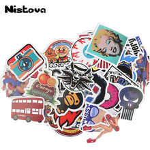 Bags Accessories 50 Pcs Fashion Style Personality Graffiti Stickers for Car Suitcase Cool Laptop Creative Skateboard Sticker(China)