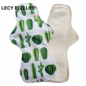 Image 2 - Free shipping 5pcs Reusable Waterproof Oganic Bamboo heavy flow Cloth Sanitary Pads Menstrual Pads Cloth Pads Wholesale Selling