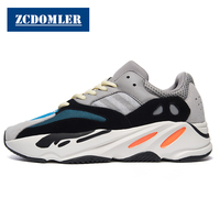 ZCDOMLER Top Quality Men's Casual Shoes Brand Kanye West White Sneakers Men Comfortable Replica Shoes Y 700 Mens Trainers 38 44