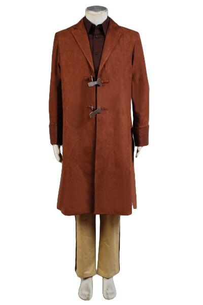 Высокое качество Malcolm Reynolds косплей костюм Взрослый коричневый плащ + рубашка + брюки + ремень + подтяжки ПОЛНЫЙ КОМПЛЕКТ Хэллоуин карнавал - 2