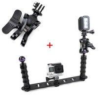 F18282-A De Poche Selfie Manfrotto Plongée Sous-Marine Lumière Bras Mont Aluminium pour GoPro 3/3 +/4 Xiaoyi SJ4000 SJ5000 SJ6000 caméra