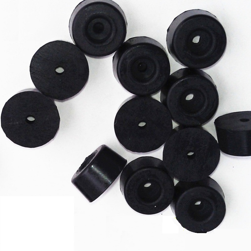 1000Pcs/Lot  19*14*H8MM  Universal Tapered Conical Recessed Rubber Feet Bumpers Pads Black Spacer