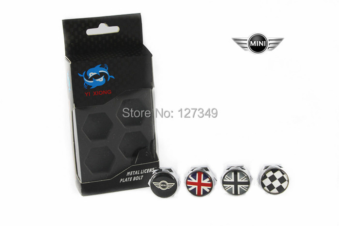 4pcs for bmw mini cooper coupe clubman countryman car licencelicense plate bolt nut screw