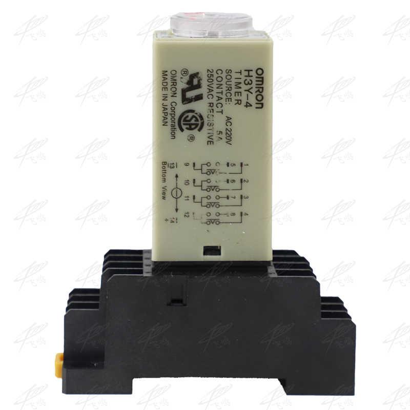 H3Y-4 Relais temporisateur de mise sous tension 0-60 minutes Relais de temps AC 220V 5A
