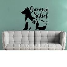 pet Grooming Salon Vinyl Sticker Pet Wall Decal Shop Decor Animals Interior Puppy cat Pets Decals G274